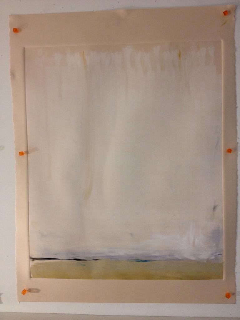 Winter Horizon, Monoprint, 2013