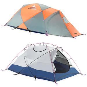 3-season mountain hardware tent with vestibule and end entry