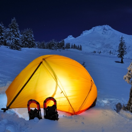 Mountain Hardware, Drifter . You could easily end up camping in snow like this in early June in the Northern Rockies, be prepared.