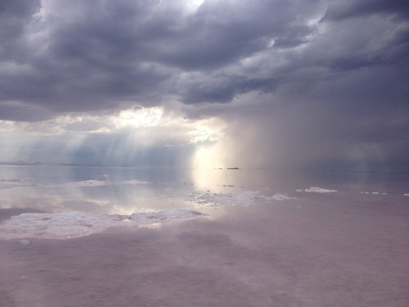 storm on the Great Salt Lake