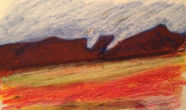 utah no. 3, oil pastel